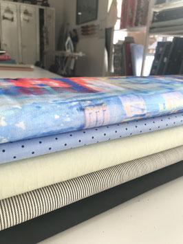 0,5m Stoff, Baumwolle+Elasthan, 130-150cm breit
