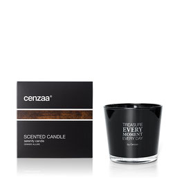 Black Scented Candle grande Allure