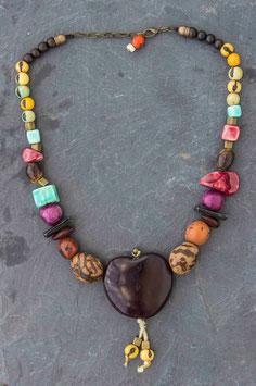 Collier coeur de l'Amazonie crisostomo