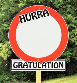 'Hurra-Schild' Größe S