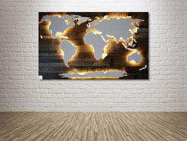 """Weltkarte """"Amundsen"""" (diverse Größen)"""