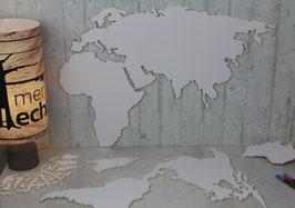Kontinente & Länder: Weltkarte DIY Größe XL