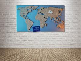"""Magnetische Pinnwand aus Kork als Weltkarte """"Pinnwelt"""""""