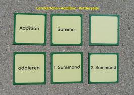 Lernkärtchen: Mathematische Begriffe