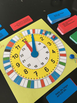 Mathespiel Uhrzeit