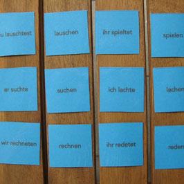 Verben-Memospiel: Präteritum - Infinitiv (schwache V.)