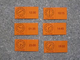 Uhrzeit-Domino: analog und digital (anspruchsvoll)