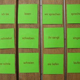 Verben-Memospiel: Präteritum - Infinitiv (starke V.)