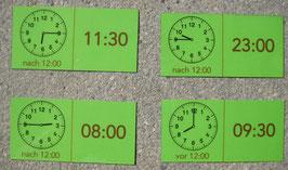 Uhrzeit-Domino: analog und digital (einfache V.)