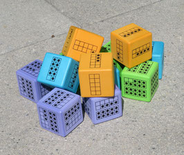 Set 12 Würfel 10-er Punktefeld
