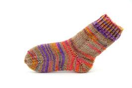 Socken- Handgestrickt Gr: 20-21  Fb: beige, lachs, lila