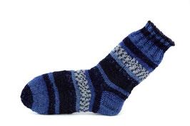 Socken- Handgestrickt Gr: 28-29  Fb: blau, jeansblau, marine