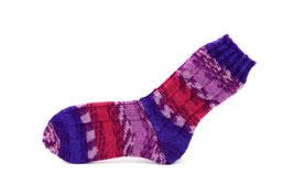 Socken- Handgestrickt Gr: 34-35  Fb: lila, flieder, pink