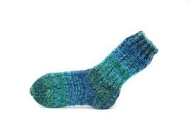 Socken- Handgestrickt Gr: 22-23  Fb: türkis, blau, grün