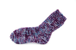 Socken- Handgestrickt Gr: 26-27  Fb: lila meliert