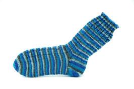 Socken- Handgestrickt Gr: 32-33  Fb: blau, türkis,grau