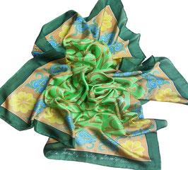 "Батик платок ""Орнамент зеленый"""
