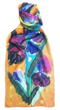 """Батик шарф """"Ирисы на желтом"""""""