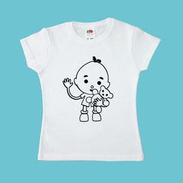 T-shirt à colorier - modèle fille (cintré)