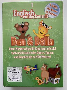 """3 DVD´s auf Englisch """"Ben & Bella"""""""