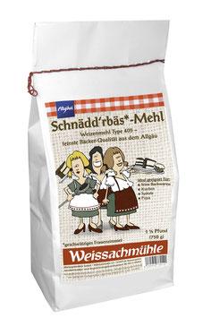 """""""Schnädd'rbäs*-Mehl"""" - Weizenmehl Type 405 - 750g"""