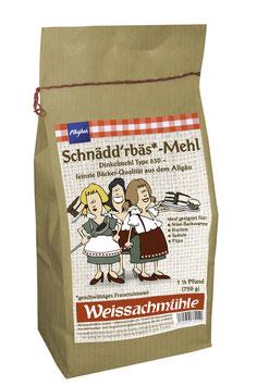 """Schnädd'rbäs*-Mehl"" - Dinkelmehl Type 630 - 750g"