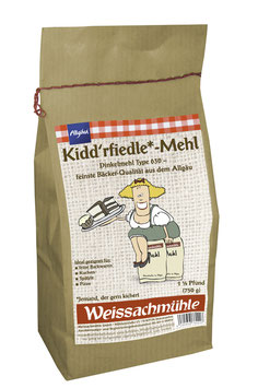 """Kidd'rfiedle*-Mehl"" - Dinkelmehl Type 630 - 750g"
