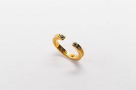 Ramen Ring with Black cubic zirconia