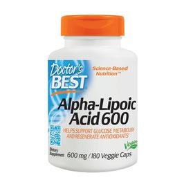 Doctor´s Best, Alpha-Lipoic Acid (Alpha-Liponsäure), 600mg, 180 Veg. Kapseln