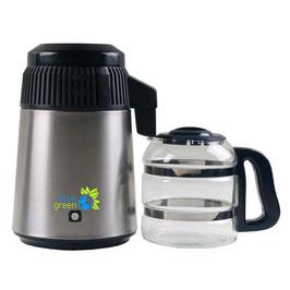 blue green Water Pro Edelstahl/Schwarz - Destilliergerät mit Glaskanne