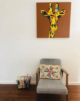 Madame GIGI , peinture acrylique 80x80cm