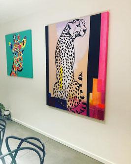 Peinture Guépard 120x150cm
