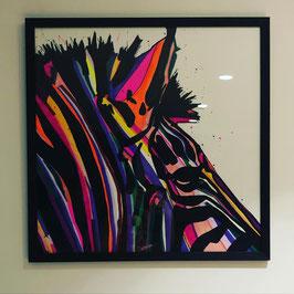 NOUVEAU !Illustration ZEBRE 50x50cm