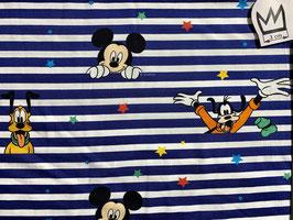 Jersey Mickey gesteift blau-weiss