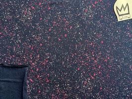 Jersey Farbspritzer Pink auf Dunkelblau