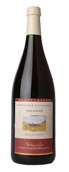 1 Liter Pfandflasche - 2015, Trollinger halbtrocken (Horrheimer Klosterberg)