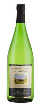 1 Liter Pfandflasche - 2015, Müller-Thurgau halbtrocken (Horrheimer Klosterberg)
