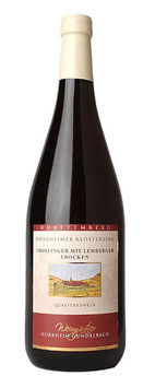1 Liter Pfandflasche - 2014, Trollinger-Lemberger trocken (Horrheimer Klosterberg)