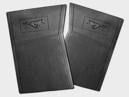 Set de 4 tapis caoutchouc - 65-73 Mustang running pony rubber floor mats