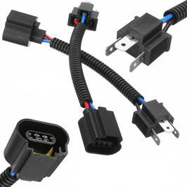 Faisceau electrique de conversion H4 => H13 - H4 To H13  Male to Female Pigtail Headlight Conversion Harness Socket