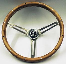 "Volant GRANT en bois trois branches 15"" COBRA - 1965-1969 Mustang steering wheel COBRA 15"" MUSCLE CAR WALNUT steering wheel"