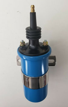 Bobine d'allumage electronique HEI TSP - Blue 45,000 Volt Oil-Filled Canister Style Male Remote Ignition Coil