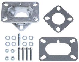 Kit d'adaptation pour carburateur double corps sur collecteur 1 corps - 1 barrel to 2 barrels carburetor adapter