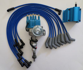 Kit d'allumage électronique HEI Small Block - 62-80 SMALL BLOCK FORD Small Cap HEI Distributor + Coil + Spark Plug Wires
