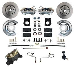 Kit complet de conversion de frein à disque avant - 64-73 Mustang Disc Brake Conversion Kit with Master Cylinder and Adjustable valve