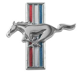 Emblème running horse  t-bar Ford Mustang -Running Horse Fender Emblem
