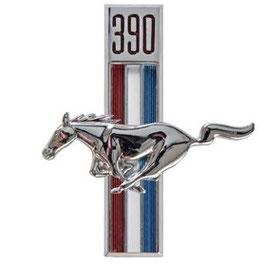 Emblème running horse t-bar 390 - 390ci Running Horse Fender Emblem