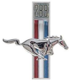 Emblème running horse t-bar 289 - 289ci Running Horse Fender Emblem
