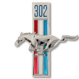 Emblème running horse t-bar 302 - 302ci Running horse fender emblem