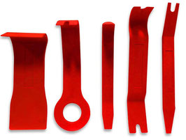 Outils de démontage - 5pcs Red High-Strength Nylon Car Door Panel Dash Trim Removal Pry Open Tool Kit